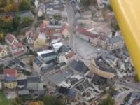 Der neugestaltete Mittweidaer Marktplatz aus der Luft